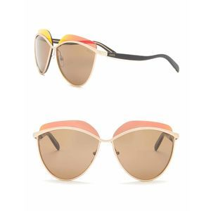 Emilio Pucci 60mm Gold Rounded Sunglasses